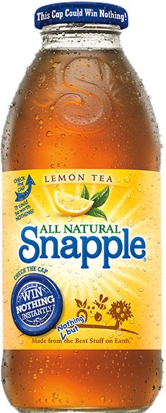 Lemon Tea - Life handed us lemons, we picked out the best ones and blended their lemon flavor with our green and black teas to create our famous Snapple Lemon Tea. No autographs, please!