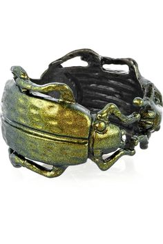 Bottega Veneta|Sterling silver scarab beetle ring|NET-A-PORTER.COM