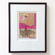 Anne Nørgaard.  Mixed media collage.