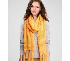[Free Pattern] This Timeless Crocheted Scarf With Fringes Is The Perfect Beginners Project