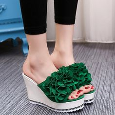 {D & H} Zapatos de Mujer 2017 Verano Cuñas de Flores Zapatillas Fuera Super Alta plataforma Del Talón del Talón Flip Flop Sandalias de Regalo en   de   en AliExpress.com | Alibaba Group