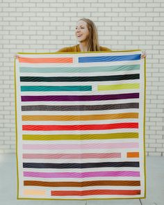 """@newsongquiltingco shared a photo on Instagram: """"Art imitates life, amiright? This quilt is full of starts and stops. Interruptions and pauses. Committed beginnings that look a lot…"""" • Aug 13, 2020 at 12:23pm UTC Quilting 101, Jellyroll Quilts, Quilt Patterns, Outdoor Blanket, Sewing, Fabric, Jelly Rolls, Blankets, Modern"""