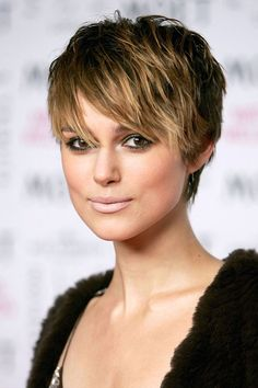 Short Pixie Cut Women's Straight Human Hair Lace Front Wigs With Side Bangs Hairstyles, Pixie Hairstyles, Straight Hairstyles, Pixie Cut With Bangs, How To Cut Bangs, Pixie Cuts, Haircut For Older Women, Older Women Hairstyles, Cheap Human Hair