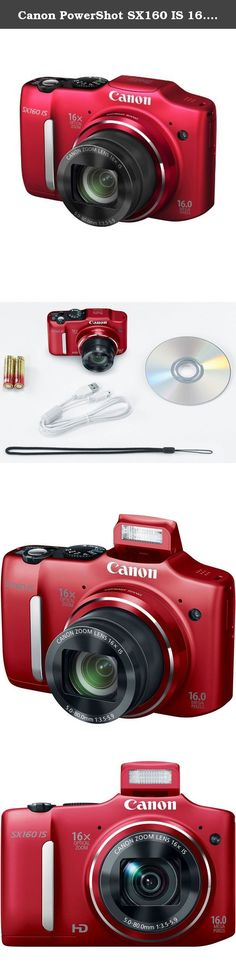 Canon PowerShot SX160 IS 16.0 MP Digital Camera with 16x Wide-Angle Optical Image Stabilized Zoom with 3.0-Inch LCD (Red) (OLD MODEL). The Canon 6801B001 PowerShot SX160 IS 16MP Compact Digital Camera, in red, offers a powerful 16x optical zoom lens enabling you to shoot photos and videos that cover the full spectrum of focal lengths. From wide-angle 28mm shots of friends gathered 'round the dinner table to standard length shots of landscapes and even telephoto shots of animals, sporting...
