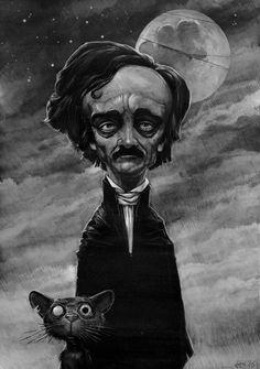 Edgar Allan Poe by Daniel Grzeszkiewicz