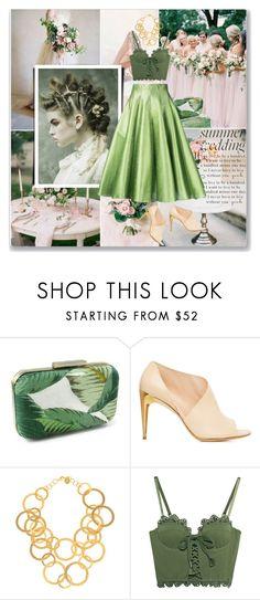 """green summer wedding"" by ozlem-ozcanb ❤ liked on Polyvore featuring La Perla, Sylvia Toledano, Puma and Bambah"