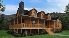 eLoghomes: BEAR RIVER the premium loghome provider, offering over 300 models in all price ranges. Log Cabin Floor Plans, Log Cabin Kits, Log Home Plans, Log Cabin Homes, Cabin Plans, House Floor Plans, Log Cabins, Cabin Ideas, Interior Balcony
