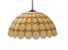 Tiffany style floral hanging lamp 16 inches wide 2 light rustic 165 tiffany style hanging lamp hand crafted stained glass ceiling lamp stained glass aloadofball Images