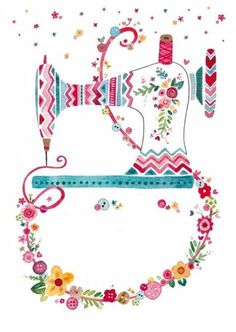 Sewing Art, Sewing Rooms, Love Sewing, Sewing Crafts, Sewing Projects, Sewing Patterns Free, Embroidery Patterns, Machine Embroidery, Decoupage