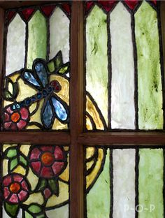 049f4cbefd85a8 Pails of Paint  Repurposed Old Window Painted Stained Glass.
