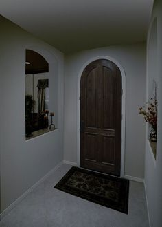 Entry Way Before Dark Bathrooms, Before After Photo, Beautiful Space, Solar System, Room Interior, Oversized Mirror, Photo Galleries, Entryway, Gallery