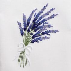 Lavender WildHand Towel - White Cotton – Henry Handwork