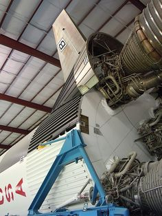 A detail of the Saturn V in Rocket Park, Johnson Space Center, Houston, TX Apollo Spacecraft, Soyuz Spacecraft, Apollo Space Program, Johnson Space Center, Retro Rocket, Nasa Photos, Apollo Missions, One Small Step, Space Race