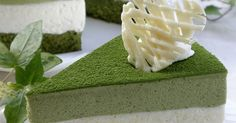 "Great recipe for Green Tea and White Chocolate Mousse Cake. This cake delivers a combination of green tea and white chocolate that tastes like Green Tea Latte. You can also use whatever green tea sponge cake you'd like the mousse is delicious on its own. Using a ""chasen"" (tea whisk used in Japanese tea ceremony) during Step 25 will make the mixing easier. If you are decorating the cake with whipped cream, remember that you are using the sifted green tea powder to dust the cake..."