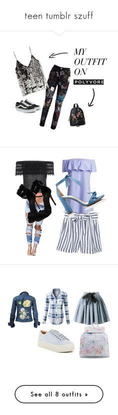 """""""teen tumblr szuff"""" by lucisaric-ls on Polyvore featuring moda, MANGO, Alexandre Birman, LE3NO, Miu Miu, Marc Fisher LTD, New Look, adidas Originals, Alexander McQueen i Converse"""