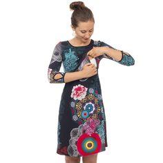 Umstands & Stillkleid - MILLA in Bunt | Kleid hochzeit ...