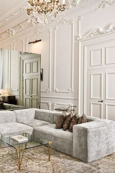 Elegant Home Interior .Elegant Home Interior French Living Rooms, French Country Living Room, Elegant Living Room, Modern Living, French Country Rug, French Country Decorating, Country Style, Luxury Interior, Home Interior