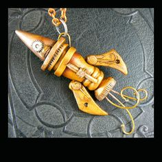 FREE Product Projects - Christi Friesen's Neighborhood #polymer  #christifriesen #diycrafts #projects #freeProjects #tuts #polymerclay #steampunk #rocket #jewelry #moon