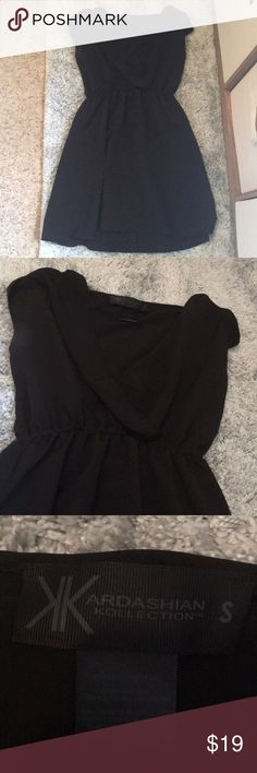 Kardashian Kollection Black Dress Only worn once, no signs of use at all. In great condition. Very cute, flowey dress, low neckline, SIZE SMALL. Kardashian Kollection Dresses Mini
