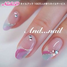 nails, girly and kawaii image on We Heart It Fancy Nails, Love Nails, Pink Nails, Pretty Nails, 3d Nails, Nails Only, Japanese Nails, French Tip Nails, Manicure E Pedicure