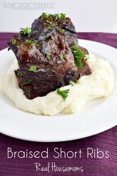 Braised Beef Short Ribs by Home. Made. Interest. for Real Housemoms