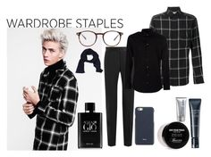 """Plaid"" by enu-india ❤ liked on Polyvore featuring Yves Saint Laurent, Dolce&Gabbana, Giorgio Armani, Baxter of California, Shiseido, Michael Kors, Valextra, Tom Ford, Armani Collezioni and men's fashion"