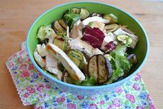 pollo con verdure,insalata di pollo, pollo freddo