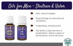 Essential Oils to Support Men's Hormones, Emotions and Courage Essential Oil For Men, Oils For Men, Young Living Essential Oils, Aromatherapy, Presentation, Stress, Essentials, Personal Care, Feelings