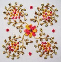 Deshilachado: Bordado con cintas II / Ribbon embroidery II