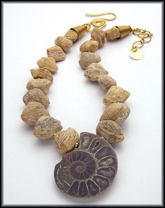SOLD! ANCIENT TIMES Genuine Ammonite Pendant by sandrawebsterjewelry, $195.00
