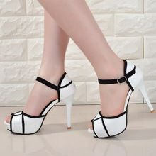 Womens Shoes High Heels Platform Stiletto Belt Buckle Peep Toe Sandals Stiletto in Clothing, Shoes & Accessories, Women's Shoes, Heels Sexy High Heels, High Heels Boots, Frauen In High Heels, Super High Heels, Womens High Heels, Pumps Heels, Stiletto Heels, High Shoes, Strappy Heels
