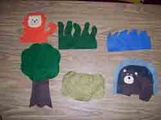 """Felt Board for """"We're Going on a Bear Hunt"""" available at Making Learning Fun."""