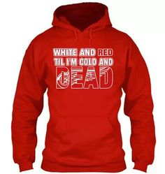 Detroit Red Wings sweatshirt. I've seen this through creepily being stalked by facebook. Still want.