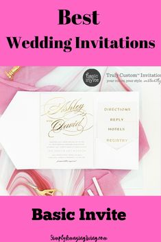 Basic Invite is an online invitation company that couples can trust to design an invitation that truly represents everything they want their wedding to be.  From elegant wedding invitations to casual wedding invitations - Basic Invite truly is the place to design the perfect invitation for every couple. #weddinginvitations #invitations #allthingswedding #affordablewedding #weddingtips #weddingplanning #tipsfromaweddingplanner #savemoney #custominvtations #simplyamazingliving