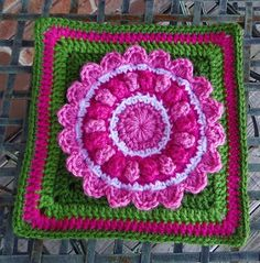 Scotty's Place. Click free pattern link, crochet granny square..THE ORIGINAL PINNER DIDN'T CLICK on the blog post so there is no direct link.