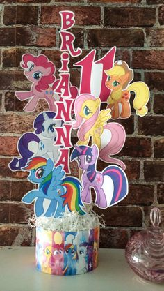 My Little Pony Printable Centerpiece without NAME and AGE on Etsy, $15.00