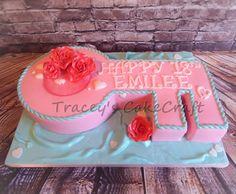 18th Birthday Key. Vanilla sponge with vanilla buttercream & jam filling. Fondant covering with gumpaste roses.