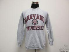 Vtg 90s Fruit of the Loom Harvard Crimson Crewneck Sweatshirt sz L Large IVY #FruitoftheLoom #HarvardCrimson #tcpkickz