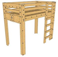 It is a photo of Insane Printable Full Size Loft Bed Plans