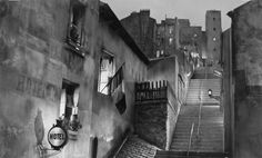 Photo of completed set: designed by Alexandre Trauner for 'Hôtel du nord', 1938 (directed by Marcel Carné)