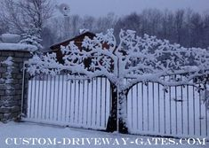 Tree Driveway Gates by JDR Metal Art - Steel Iron & Aluminum - Free Nationwide Shipping!