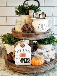 Thank you all so much for all the love on the new Fall signs! Y'all are the sweetest. This cutie Farm Fresh Pumpkins Tag is a newbie to our… Rustic Kitchen Decor, Rustic Decor, Farmhouse Decor, Farmhouse Style, Kitchen Ideas, Country Style, French Country, Kitchen Designs, Rustic Style