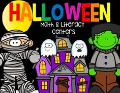 Halloween Math and Literacy Centers is packed full of fun hands-on math and literacy centers that will make the month of October a blast!