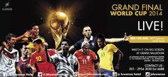 GRAND FINAL WORLD CUP 2014 LIVE at JS Luwansa Grand Ballroom Rp 150.000 nett / person (include snack)  #worldcup #football #match #live #grandfinal #jsluwansa