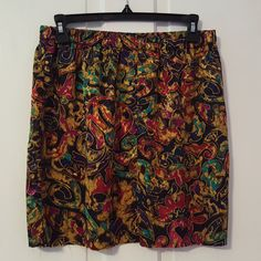 90's ABSTRACT PRINT SKIRT // Donna Morgan for Non Stop Raw