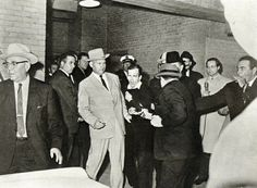 November 24, 1963: Lee Harvey Oswald, accused assasin of John F. Kennedy, shot and killed by Jack Ruby.