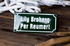Enamel Name Plate 2.8 x 5.9 by enamelsign on Etsy, $119.00