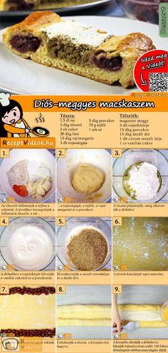 A macskaszem egy mutatós, kiadós és nem utolsó sorban, egy nagyon finom sütemény! A Diós-meggyes macskaszem recept videóját a kártyán levő QR kód segítségével bármikor megtalálod! :) #DiósMeggyesMacskaszem #DiósMeggyes #Macskaszem #ReceptVideók #Recept #KeltTészta #KeltTésztaRecept #Kelt #Tészta Food Porn, Hungarian Recipes, Cake Cookies, No Bake Cake, Kids Meals, Cookie Recipes, Breakfast Recipes, Food And Drink, Sweets
