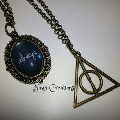 Harry Potter Necklaces Cameo o Doni della morte di NanaCreationsShop su Etsy