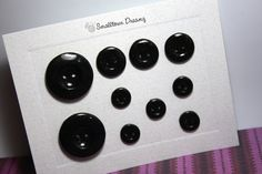 Polymer Clay Black (pearl) Buttons (Set of 10). $10.00, via Etsy.